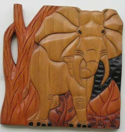 tableau africain en bois
