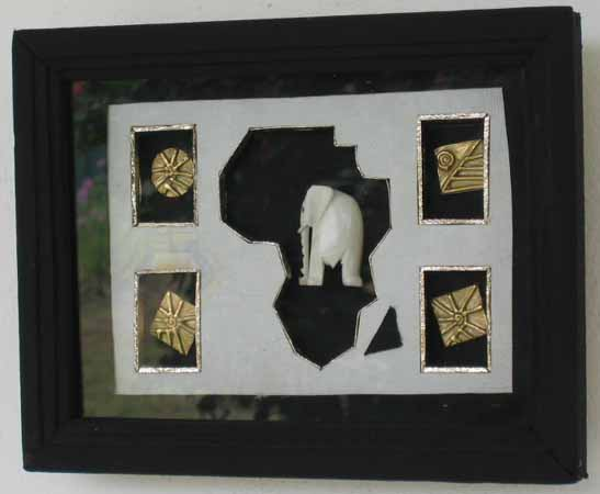 tableau africain en bronze