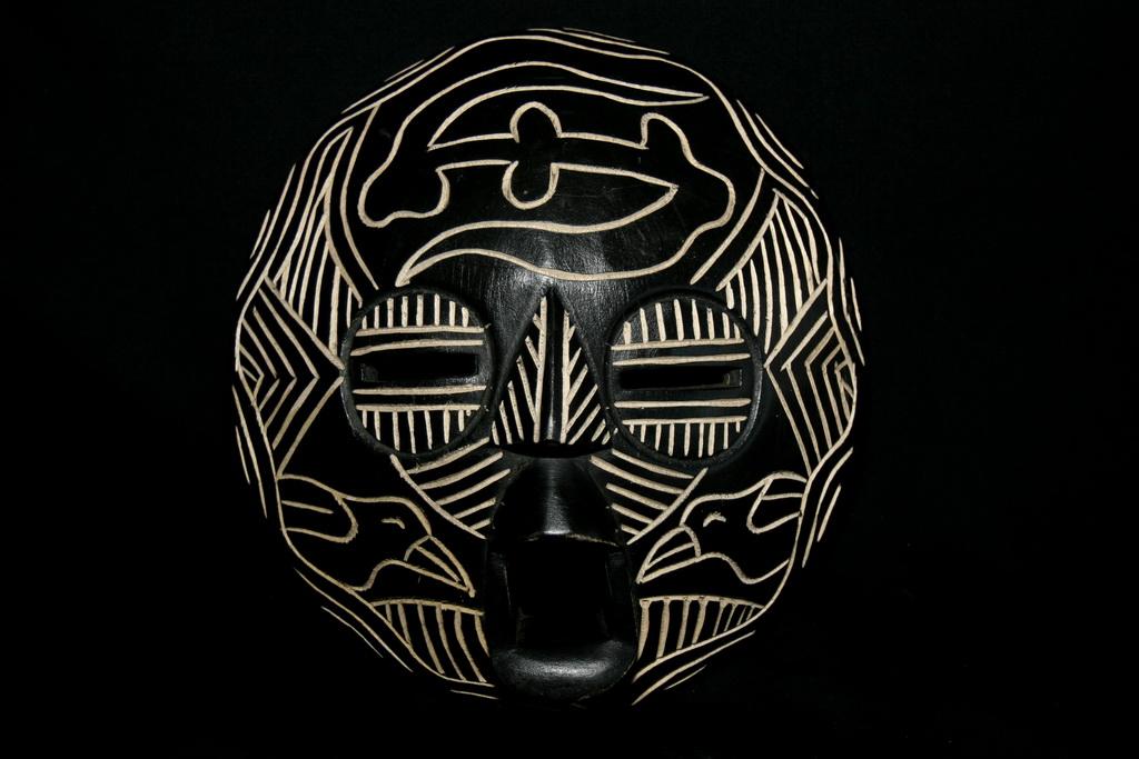 masque africain noir